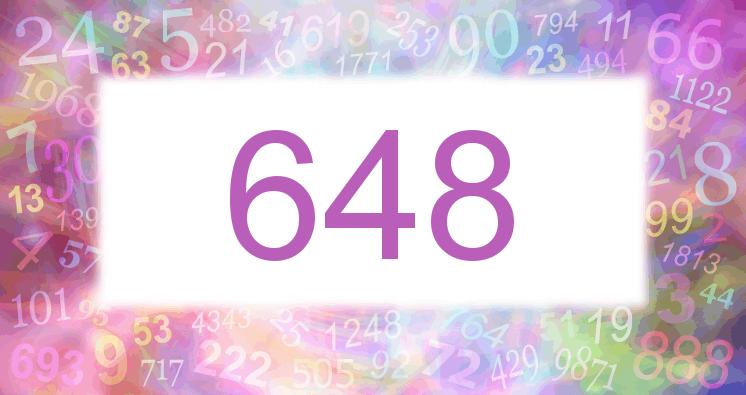 Sueño con el número 648 imagen lila