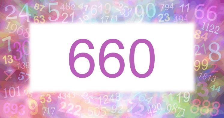 Sueño con el número 660 imagen lila