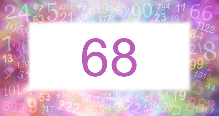 Sueño con el número 68 imagen lila