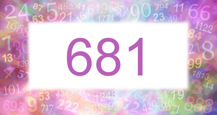Sueño con el número 681 imagen lila