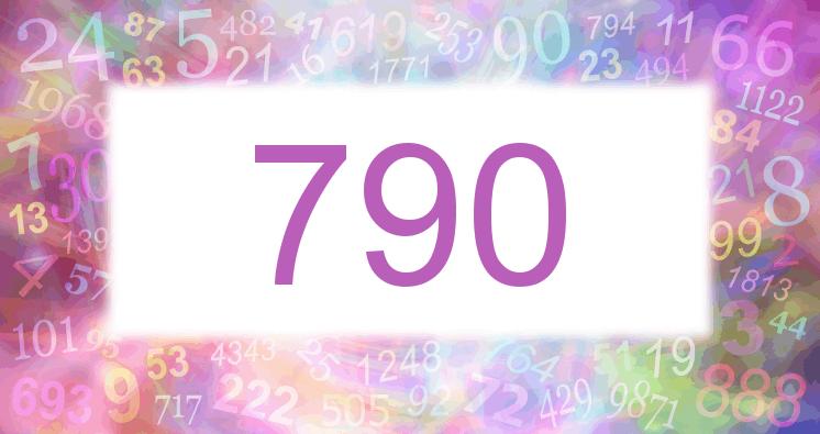 Sueño con el número 790 imagen lila
