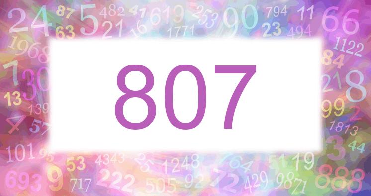 Sueño con el número 807 imagen lila