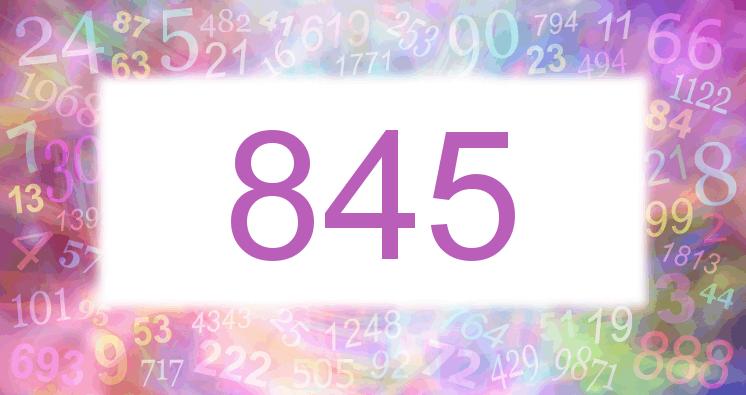 Sueño con el número 845 imagen lila