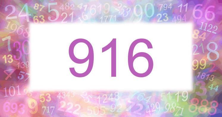 Sueño con el número 916 imagen lila