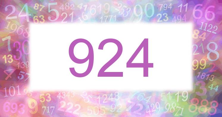 Sueño con el número 924 imagen lila