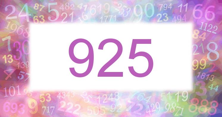 Sueño con el número 925 imagen lila