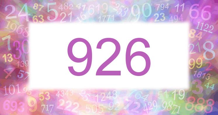 Sueño con el número 926 imagen lila