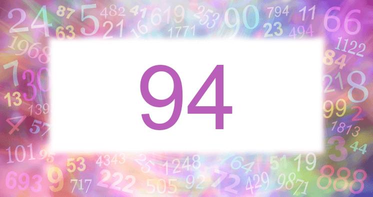 Sueño con el número 94 imagen lila