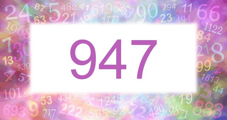 Sueño con el número 947 imagen lila
