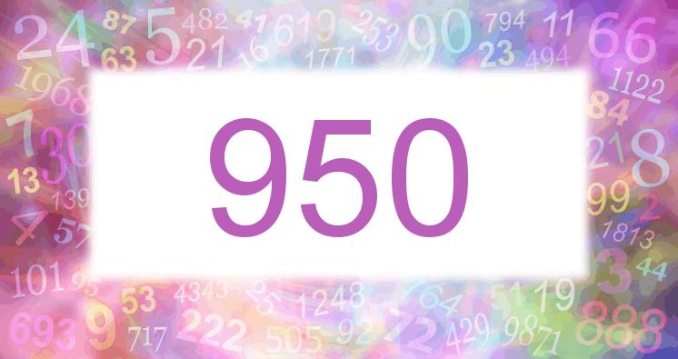 Sueño con el número 950 imagen lila